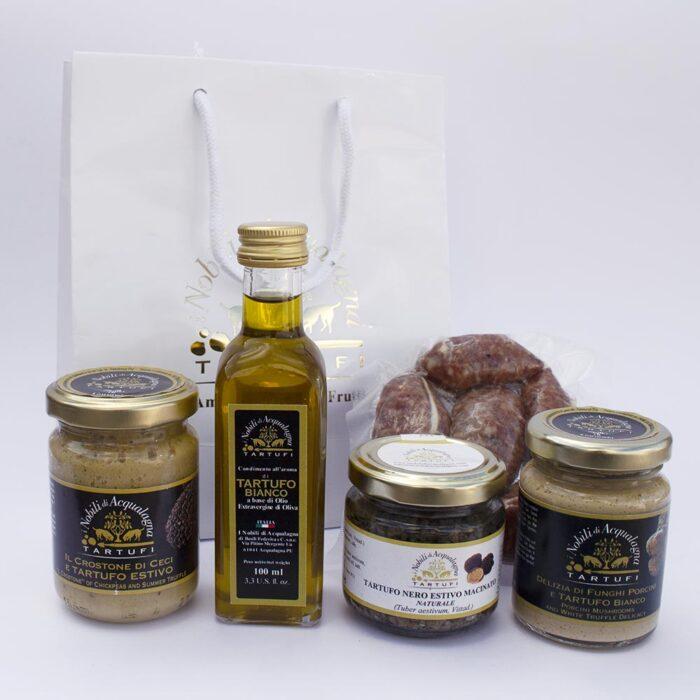 Box degustazione salse olio salsicce e tartufo