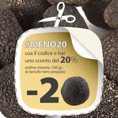 sconto 20% tartufo nero